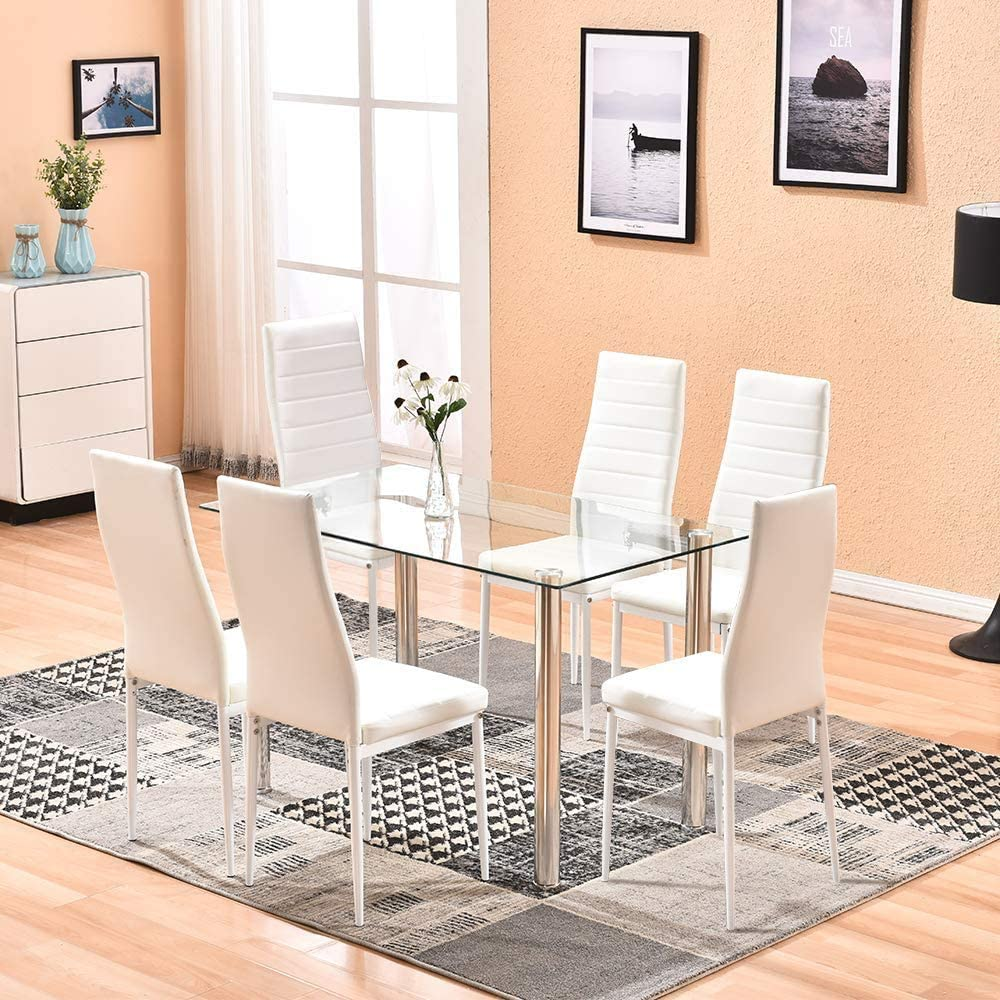Dining Table And Black Chairs Set, Black Dining Table Chairs Set Of 6