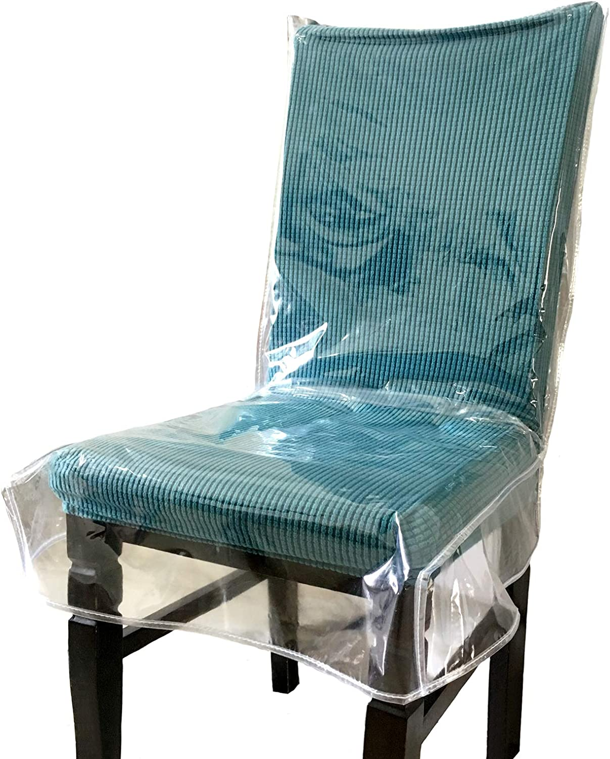 Swanna Plastic Dining Chair Covers, How To Cover Dining Room Chairs With Plastic