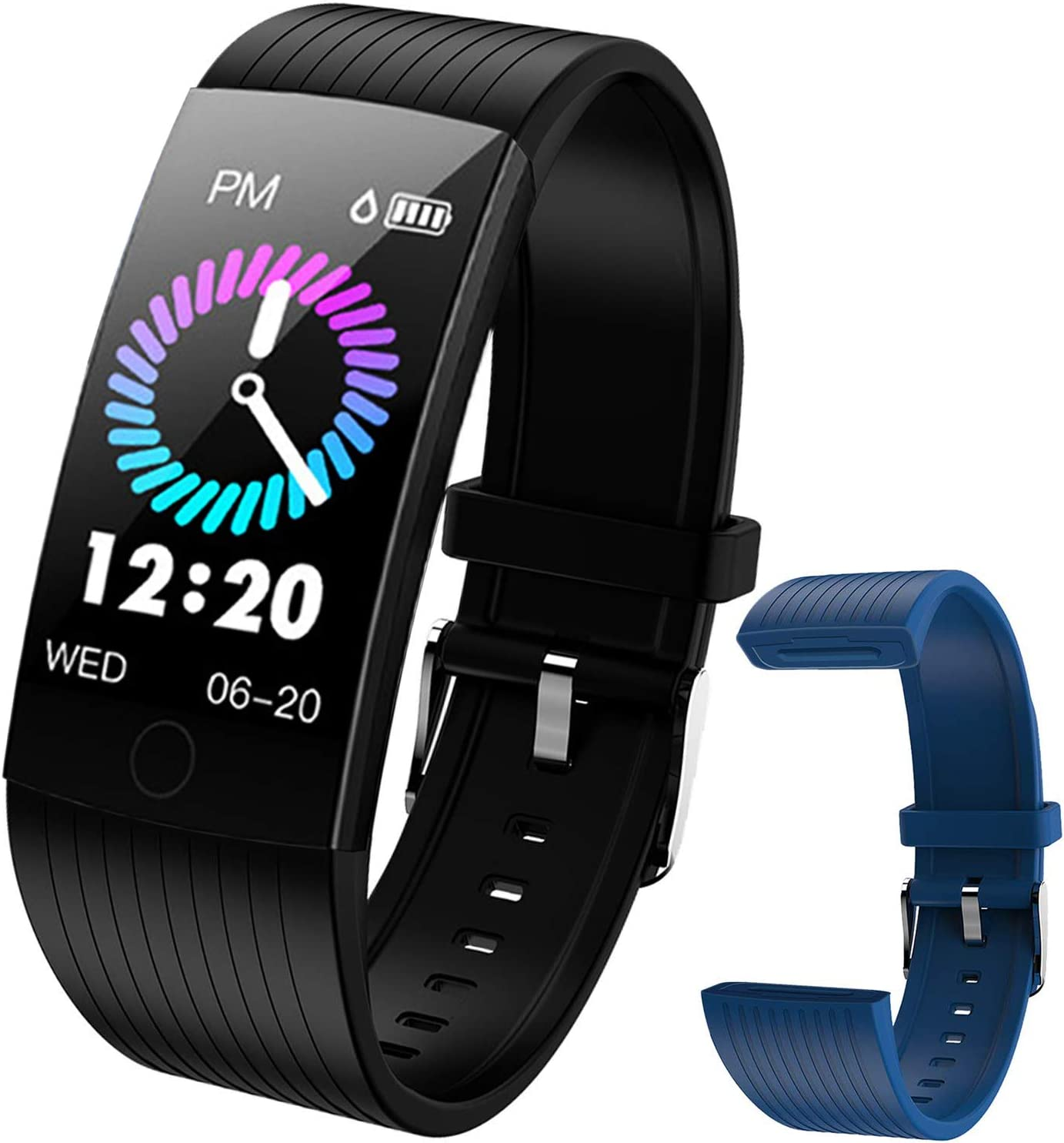 Buy Fitness Tracker With Heart Rate Monitor Fitness Watch For Kids Boys Girls Oxygen Monitor Calorie Counter Pedometers For Steps And Miles Activity Tracker With Step Counter For Walking Online In Indonesia