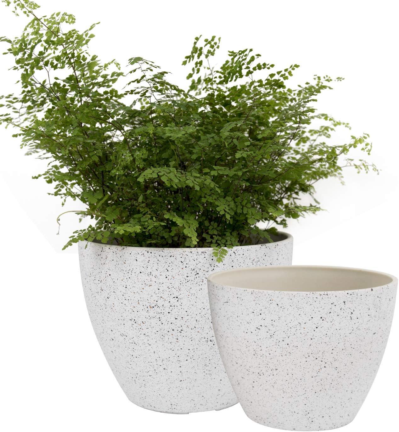 La Jolie Muse Flower Pots Outdoor, Outdoor Garden Pot Plants