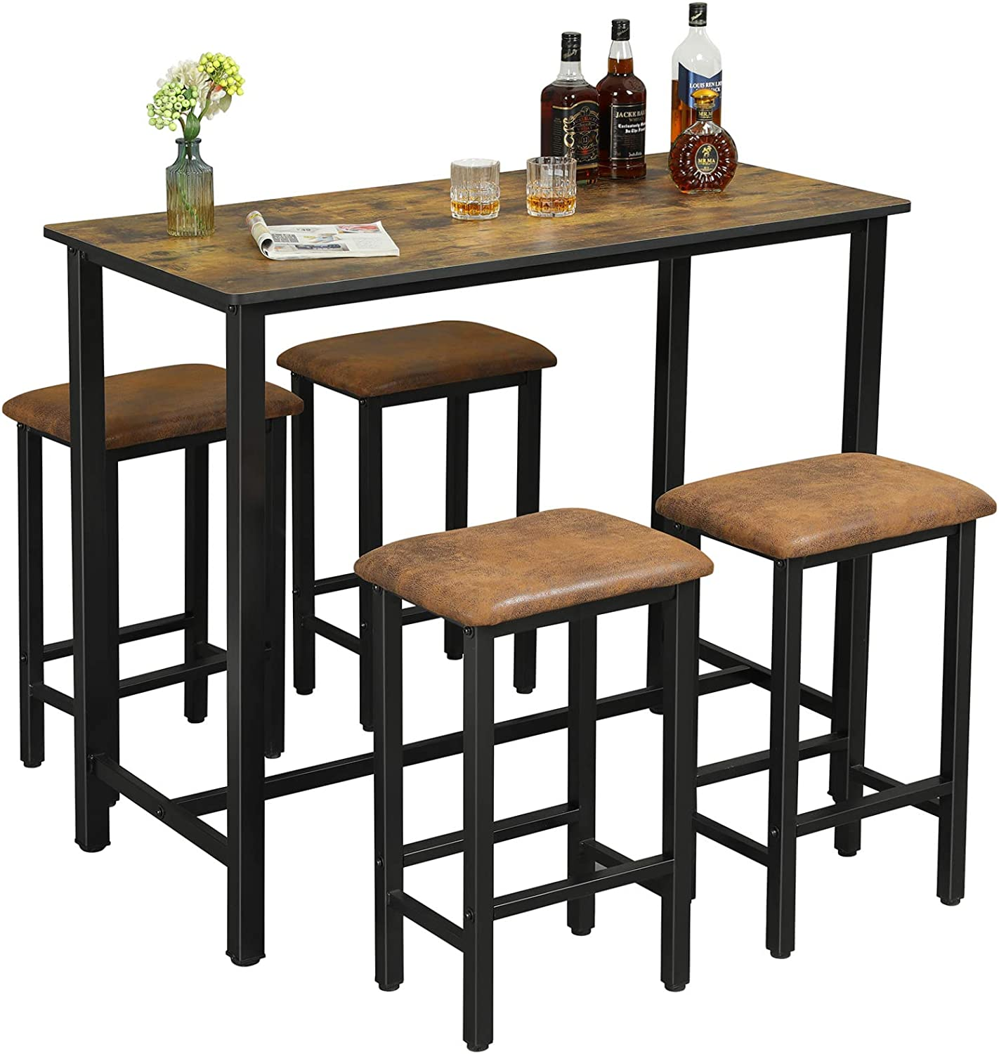Dictac Bar Table Set, Counter High Dining Room Table Sets