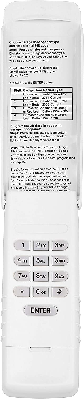 Buy Asonpao Cmxzdcg440 877max Universal Wireless Keypad For Sears Craftsman Liftmaster Garage Door Openers 1pack Online In Indonesia B08t6vfb83