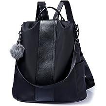 4620fa915b7f Women Backpack Purse Waterproof Nylon Anti-theft Rucksack Lightweight  Shoulder Bag