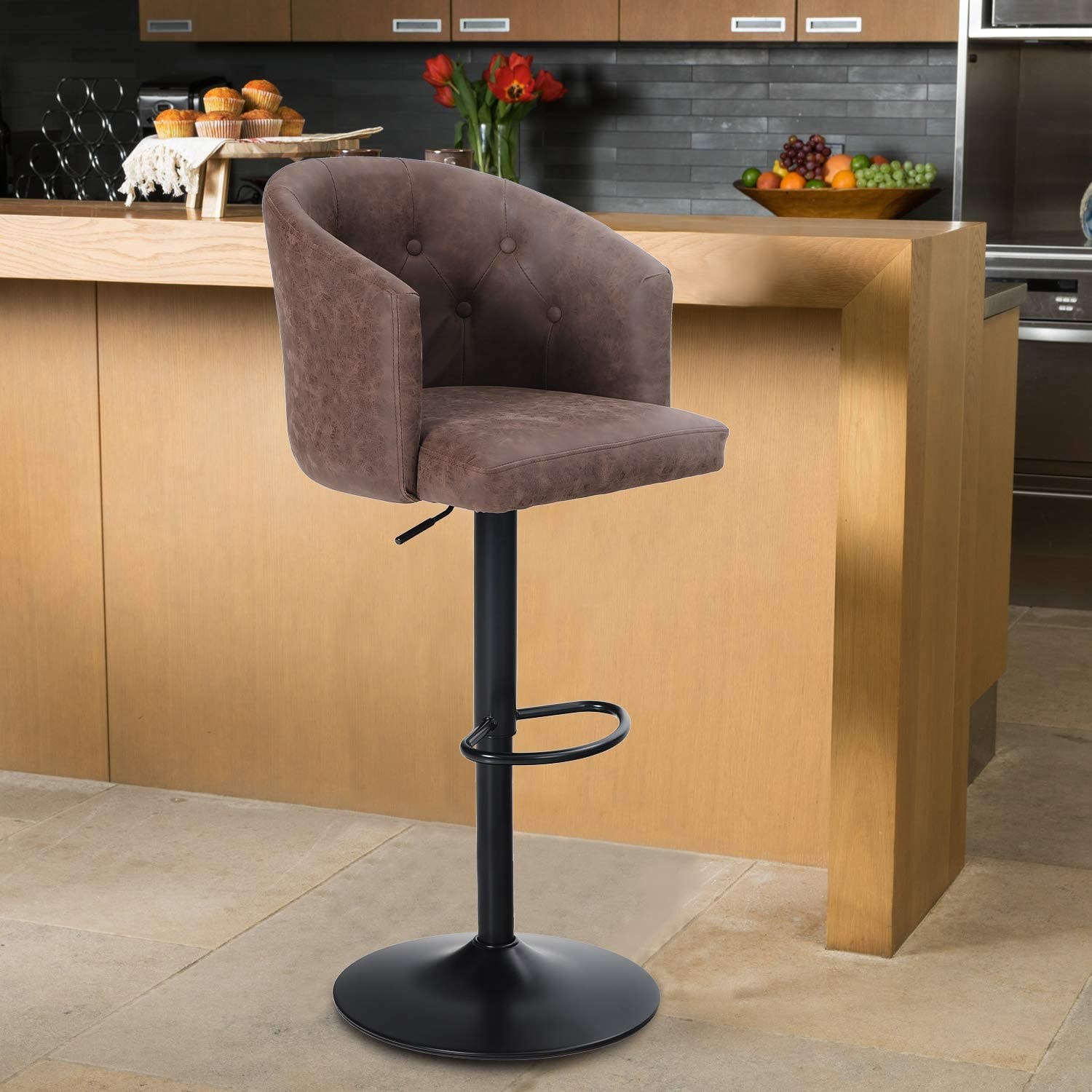 Buy Maison Swivel Bar Stool with Back for Kitchen Counter Height ...