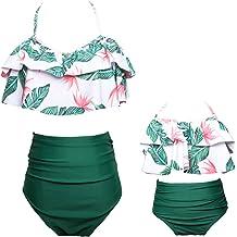 9451a0642018c KABETY Girls Swimsuit Two Pieces Bikini Set Ruffle Falbala Swimwear Bathing  Suits