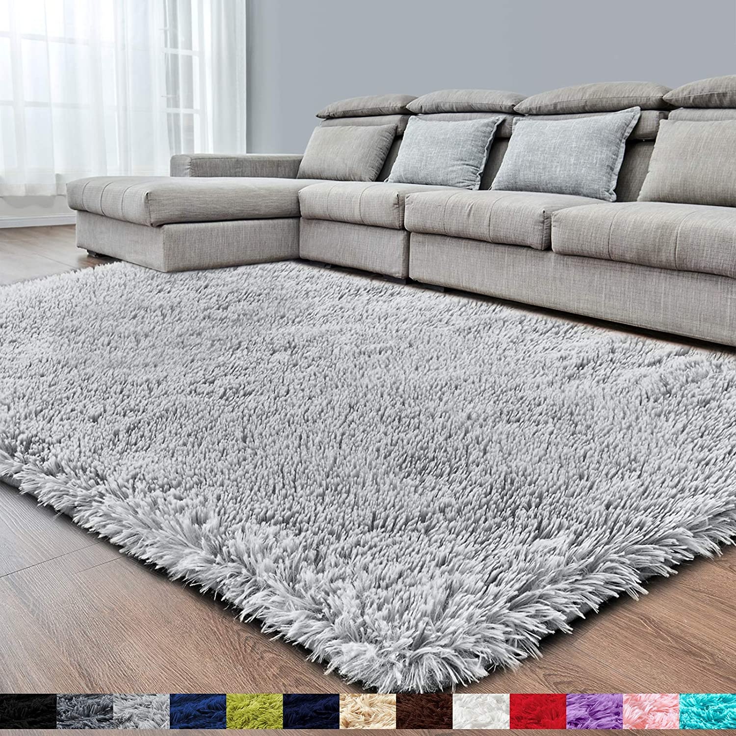 Light Grey Soft Area Rug For, Soft Area Rugs For Living Room