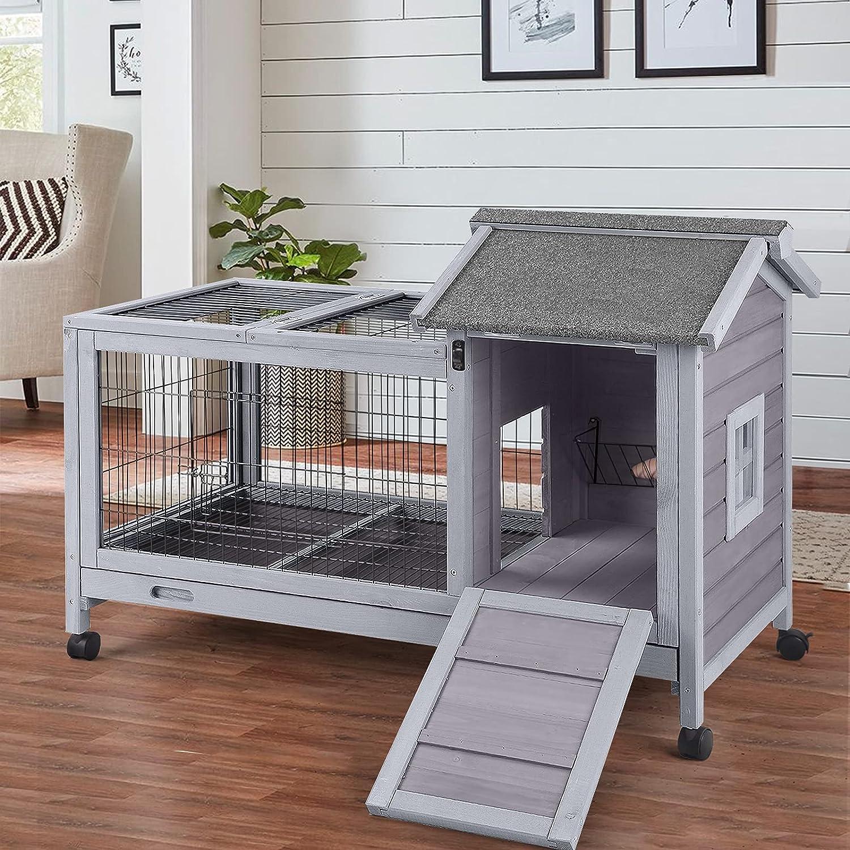 11+ Buy Aivituvin Rabbit Hutch Indoor Bunny Cage Outdoor with Deeper ... Fotografie