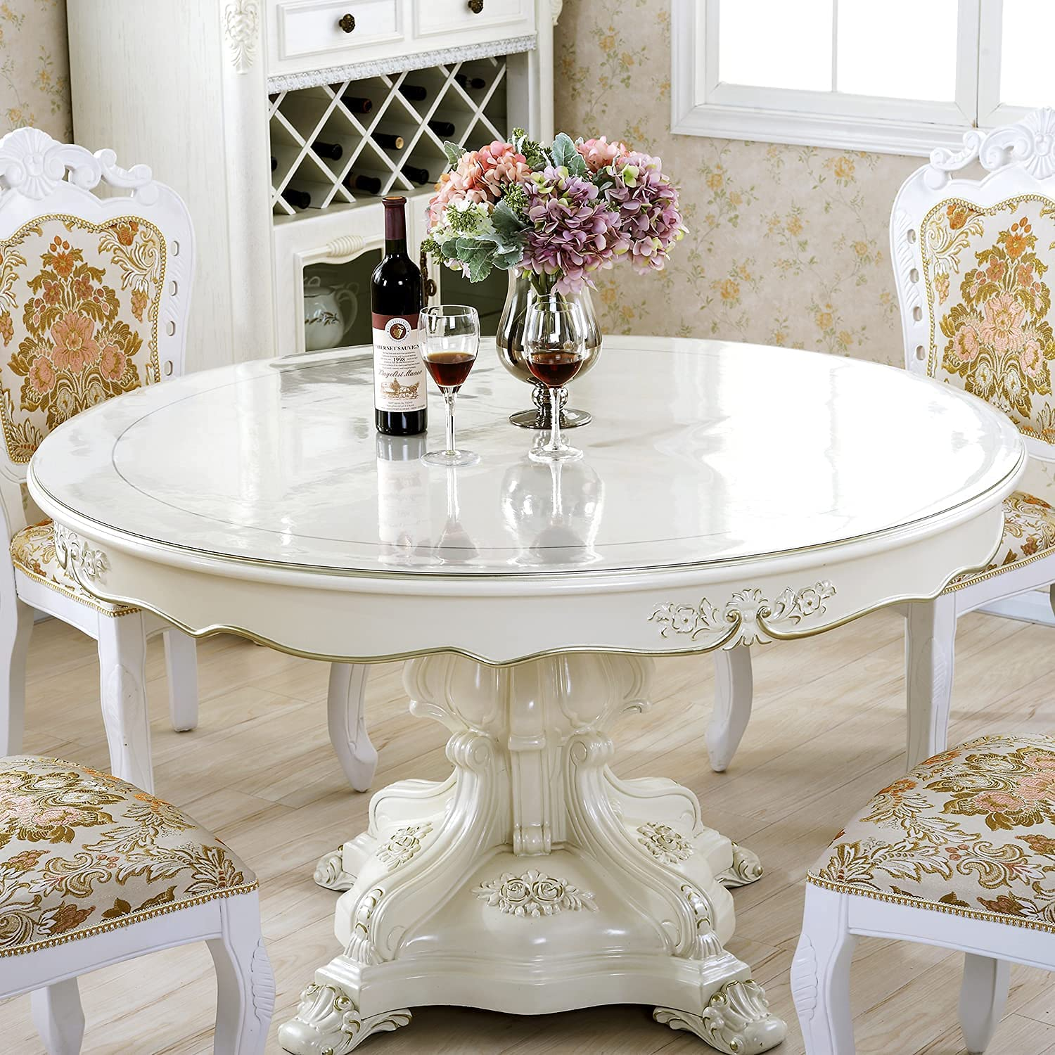 Buy LovePads New Version 9mm Thick Clear 49 Inch Round Table Cover ...