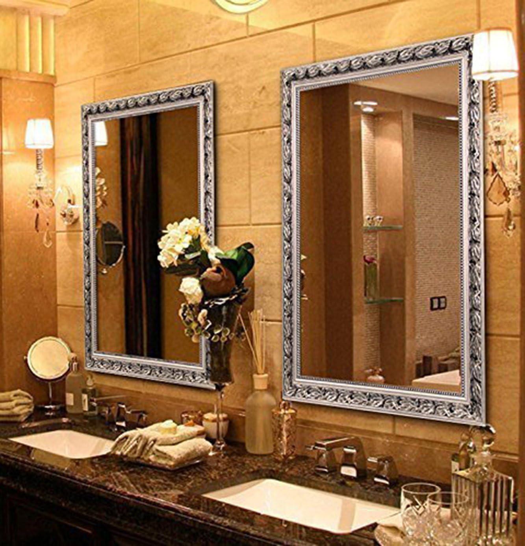 Large Rectangular Bathroom Mirror, Large Gold Frame Bathroom Mirror