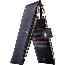 f73fa6694acc Travelambo Womens Walllet RFID Blocking Bifold Multi Card Case Wallet with  Zipper Pocket