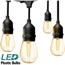 48FT Garden LED String Lights Fairy Outdoor Patio Party Waterproof Lamp Bulbs