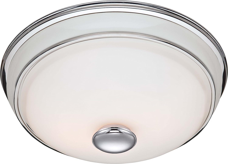 Hunter 81021 Ventilation Victorian, Chrome Bathroom Fan Light