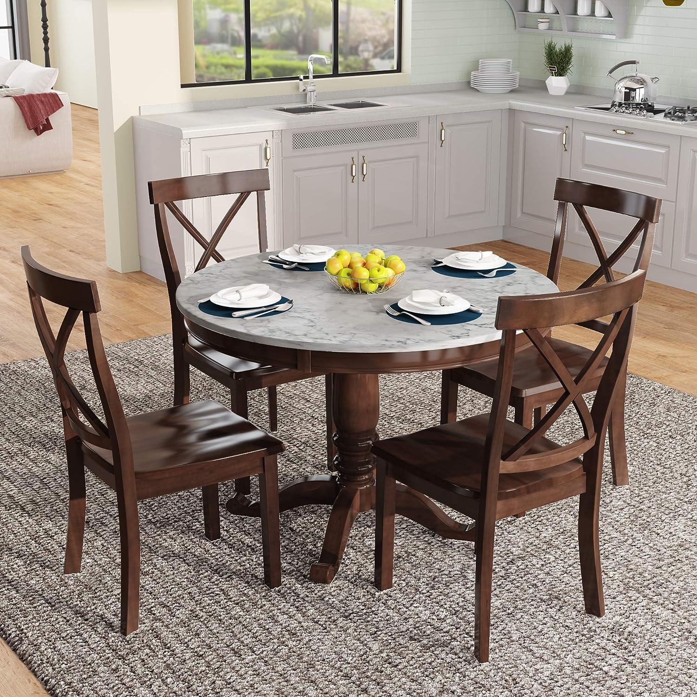 Buy Harper & Bright Designs Dining Table Set   9 Piece Round ...